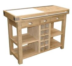 Mobile Kitchen Island, Rolling Kitchen Island, Carpentry And Joinery, Butcher Block Island, Hanging Racks, Shop Plans, Wooden Pallets, Rustic Furniture, Woodworking Projects