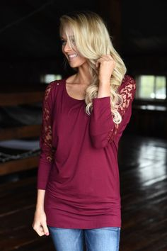 America's Sweetheart Lace Top ~ Burgundy – The Pulse Boutique