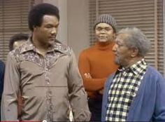George Foreman and Evander Holyfield are just a couple of the boxers who have had guest spots on T. George Foreman was in an episode of Sanford and Son while Holyfield was on Fresh Prince. Comedy Store, Redd Foxx, Sanford And Son, Classic Comedies, George Foreman, Man Humor, Lps, Movie Tv, Wrestling