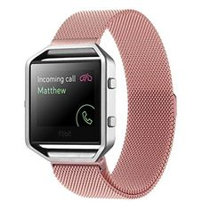 fitbit blaze bands,Voberry® Milanese loop stailess steel Bracelet Strap for Fitbit Blaze Smart Fitness Watch (Pink ) - http://www.exercisejoy.com/fitbit-blaze-bandsvoberry-milanese-loop-stailess-steel-bracelet-strap-for-fitbit-blaze-smart-fitness-watch-pink/fitness/