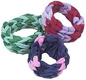 Fingerweave Hair Scrunchies - neat idea of using weaving loops and says it will take 5 minutes to make