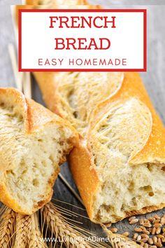 Best Bread Recipe, Easy Bread Recipes, Cooking Recipes, Bread Flour Recipes, Homemade French Bread, Homemade Breads, Sweet French Bread Recipe, French Bread Recipes, Homemade Baguette Recipe