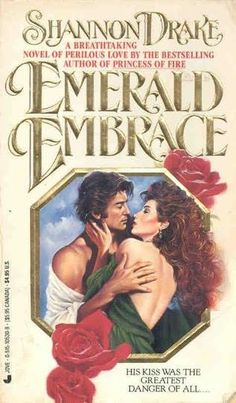Emerald Embrace by Shannon Drake - book cover, description, publication history. Summer Books, Historical Romance, Romance Books, Great Books, Ebook Pdf, Bestselling Author, Drake, Books To Read, Novels