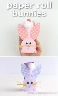 Hand Crafts For Kids, Easter Art, Bunny Crafts, Easter Crafts For Kids, Preschool Crafts, Diy For Kids, Easter Decor, Rabbit Crafts, Toilet Paper Roll Crafts