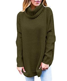 9c2e5d63f816fe Turtleneck Sweaters For Fall Womens Turtleneck Oversized Sweaters Fall Cowl  Neck Long Sleeve Chunky Knit Pullover
