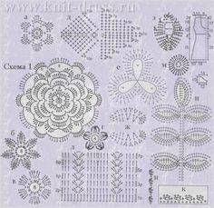 мотивы цветов вязание