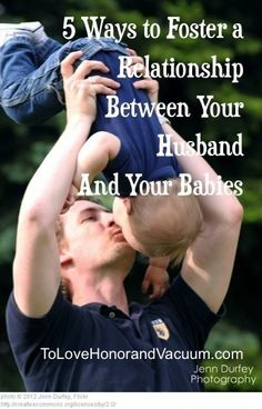 When baby is born, it's easy for mom to take over, and dad to take a backseat. These are great tips for involving your husband in taking care of your child {together} and foster their bond!
