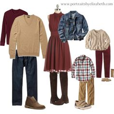 Family Portrait Outfit Ideas, fall picture outfits, fall outfits, family picture outfit ideas, what to wear for fall pictures Fall Family Picture Outfits, Family Picture Colors, Family Portrait Outfits, Family Photos What To Wear, Fall Family Portraits, Fall Family Pictures, Fall Outfits, Family Pics, Fall Photos
