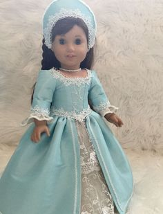 historical doll dress ( fits American girl doll )  #Unbranded #DollswithClothingAccessories