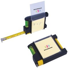Measure all the positive feedback you will get when you add your custom logo to these handy tape measures! This black multi-purpose tool features a 10 ft. tape with built in level, sticky notepad, pen and metal belt clip, making it convenient to carry from job to job. This makes an ideal giveaway for tradeshows and employment fairs. Perfect for hardware stores, construction companies and contractors. #tapemeasure #level #promo #promoproducts #tradeshows #giveaways #branded
