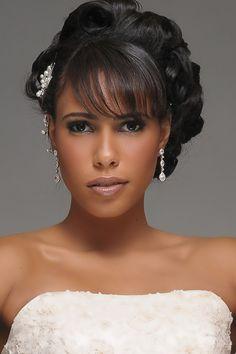 Coiffure mariage : red lip african american make up Bridal Makeup Tips, Best Wedding Makeup, Wedding Makeup Looks, Natural Wedding Makeup, Bride Makeup, Wedding Beauty, African American Brides, African American Makeup, African American Hairstyles