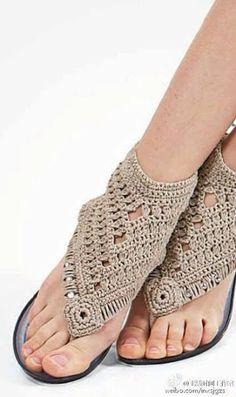 Patrón #868: Sandalias a Ganchillo | CTejidas [Crochet y Dos Agujas]