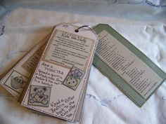 Here is another view of the Tea Party Tag Book.