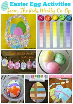 12 Easter Egg Activities from The Kids Weekly Co-Op | Mess For Less