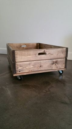 Under Bed Storage Crate // Rolling Crate by EllistownStudios
