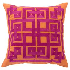 Beth Lacefield by Surya Squares Spice Decorative Pillow @LaylaGrayce