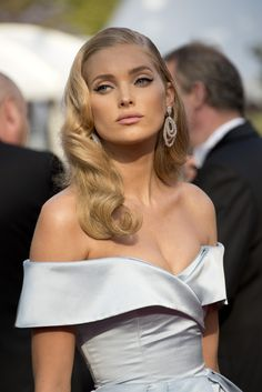 "Elsa Hosk with retro waves hairstyle at the ""The Beguiled"" screening during the 70th annual Cannes Film Festival."