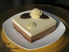 Tarta de chocolate blanco y café capuccino al caramelo (sin horno)