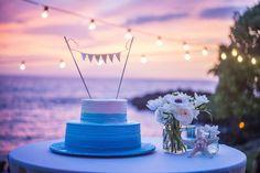 sea inspired wedding cake - Maui, Hawaii Bliss Wedding