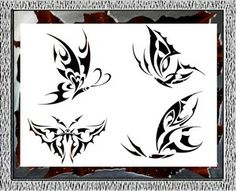 Butterfly Airbrush Stencil Template Paint Tattoo