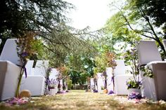 Wedding outdoor ceremony decor