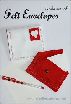 Felt Envelope for Valentines Craft