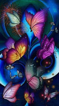 Search free butterfly Ringtones and Wallpapers on Zedge and personalize your phone to suit you. Start your search now and free your phone Blue Butterfly Wallpaper, Wallpaper Nature Flowers, Rose Flower Wallpaper, Flower Background Wallpaper, Cute Wallpaper Backgrounds, Butterfly Art, Flower Backgrounds, Flower Art, Colorful Backgrounds