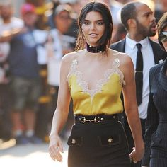 Ultimate beauty Kendall Jenner arrives at Jimmy Kimmel Live wearing EF Collection diamond double spiral rings! Styled by Monica Rose ⭐️⭐️⭐️ Xo, EF