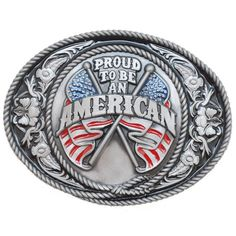 Proud To Be An American Belt Buckle J-5 – Baubles-N-Bling