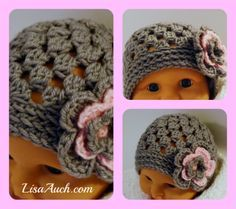 FREE crochet Pattern Baby hat #crochet #lisaauch