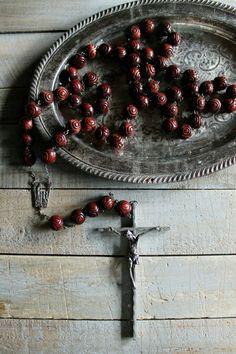 Vintage Large Beaded Rosary