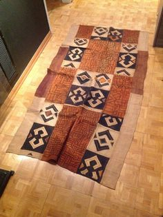 Handwoven Kuba mat. This is an unique piece perfect for a contemporary or modern interior space https://www.etsy.com/listing/199867031/kuba-patchwork $500.00