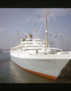 ORIGINAL 1970 NYC 35mm SLIDE SS NIEUW AMSTERDAM HOLLAND AMERICA OCEAN LINER 3-59 • CAD 10.51 - PicClick CA