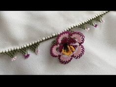 Needle Lace, Bargello, Floral, Flowers, Youtube, Jewelry, Lace, Amigurumi, Blue Prints