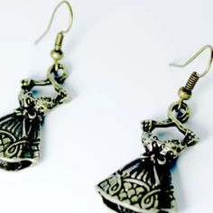 """Brass Tone Artistic Dress Drop Dangle Earrings Another timeless unique treasure. Feel proud to possess these beauties. Any fashionista will love these for sure. Length (with hook) 1 3/4"""" Width 3/4"""" Jewelry Earrings"""