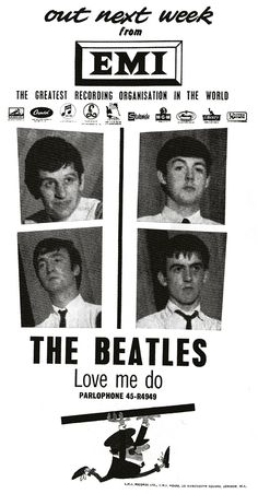 """The Beatles """"Love Me Do"""" (1962) 45 rpm Record -- this was their first hit record in England, I believe, but it came out later in America, where their first hit was """"I Want to Hold Your Hand"""""""
