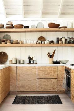 KITCHEN MAT RIDGE WEAVE - Charcoal & Natural #kitchenstyle
