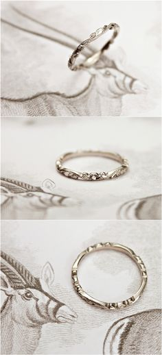 vintage delicated wedding band