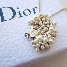 Christian Dior tell me dior astrology zodiac pendant necklace gold tone Leo - http://designerjewelrygalleria.com/christian-dior/christian-dior-tell-me-dior-astrology-zodiac-pendant-necklace-gold-tone-leo/