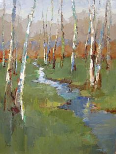 Barbara Flowers-Birch and Stream
