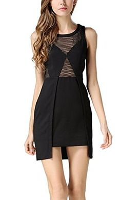 Searia Gals Captivating Sleeveless Everyday Trim In good shape Mesh Bodycon Tank Cocktail Gown