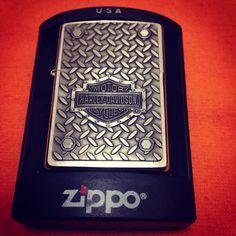 Zippo harley davidson diamond plate
