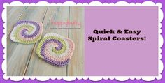 Like This? Then feel free to share!12.3k707110QUICK AND EASY FREE TUTORIAL FOR THESE VERY SPECIAL GRANNY SQUARES! Although these unique crocheted spiral granny square coasters would look awesomely great in any colors you choose, they would also be a wonderful Christmas addition to your home if you made some with just red and white, green …