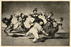 Si Marina bayló, tome lo que halló (If Marion will dance, then she has to take the consequences) / Los Proverbios, 1816-24 (c.). Print, 245 x 355 mm.