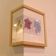 Unique Idea For Corner Floating Picture Frame With Angled Glass For The Cover And Using Unpainted Maple Wood For The Main Material Of This Unique Frame