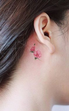 Tattoo, tiny flower tattoos, small flower tattoos for women, mini tattoos, Mini Tattoos, Tiny Flower Tattoos, Flower Tattoo Designs, Body Art Tattoos, Tattoo Flowers, Small Tattoos, Circle Tattoos, Owl Tattoos, Flower Tattoo Ear