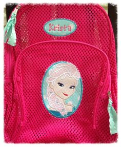 b1f113c2e FROZEN ELSA Inspired Mesh Backpack Clear Mesh by MadHouseBoutique, $40.00
