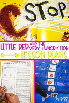Reading lesson plans for kindergarten, first, and second grade! Little Red and the Very Hungry Lion is a story with a fun twist! Have fun with these engaging lesson plans.
