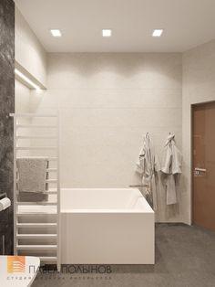 Фото: Дизайн интерьера ванной комнаты - Интерьер квартиры в стиле минимализм, ЖК «Классика», 130 кв.м.