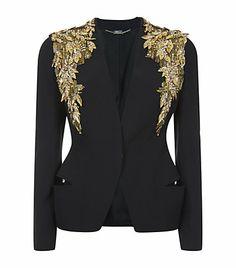 Alexander McQueen Embellished Shoulder Jacket